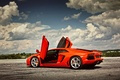 Picture Aventador, Lamborghini, Lamborghini, LP700-4, Aventador, up, Lamborghini, the sky, door, clouds