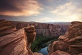 Picture landscape, river, canyon, height