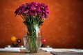 Picture vase, flowers, blur, water, background, pink
