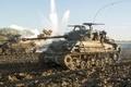 """Picture M4 Sherman, dirt, """"Fury"""", field, tank, battle, Fury"""