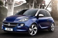 Picture blue, background, Opel, Opel, Adam, Vauxhall, the front, Adam, hatchback, Vauxhall, Jam
