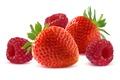 Picture berries, raspberry, food, strawberries, strawberry