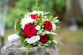 Picture wedding, Bouquets, bouquet, Roses, roses, wedding, buds, eustoma