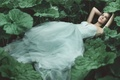 Picture lies, Wallpaper from lolita777, plants, Princess, leaves, girl, forest, dress