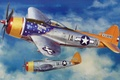 Picture P-47 Thunderbolt, illustration, ww2, painting, art, american aircraft, drawing, war