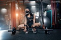 Picture tattoo, fitness, body, sneakers, fitness model, mask, sexy, posing, Pavel Garasko, the gym, squat, girl, ...