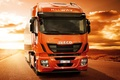 Picture Stralis, Hi-Way, 500, road, desert, track, tractor, Iveco, sunset