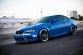 Picture the sky, blue, bmw, BMW, side view, blue, e92