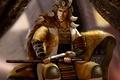 Picture samurai, look, male, sword, sitting, face, Akodo Kumai