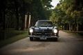 Picture classic, 300sl, black, car, gullwing, Mercedes