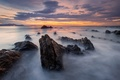 Picture Barrika, Spain, beach, excerpt, clouds, the sky, rocks, stones