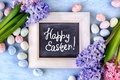 Picture spring, Easter, happy, Easter, hyacinths, Eggs, Hyacinths