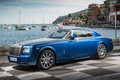 Picture the sky, water, blue, background, coupe, yachts, Rolls-Royce, Phantom, promenade, Coupe, the front, Phantom, Rolls-Royce, ...
