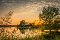 Picture sunset, landscapes, sky, Croatia, green