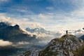 Picture beauty, the sky, mountains, trees, panorama, Wallpaper, people, height, clouds, photo, landscape, valley, delight