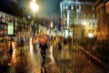 Picture umbrella, the rain, girl, Saint Petersburg, drops