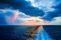 Picture clouds, nature, wave, water, Atlantic, The ocean, the sky, horizon, sunset