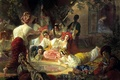 Picture picture, canvas, oil, harem, Bryullov Karl, the situation, The fountain of Bakhchisarai, the eunuch, painting, ...