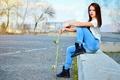 Picture View, Skateboard, Bulgaria, Portrait, Model, Ikoseomer, Shooting, Skate, Girl, Fashion