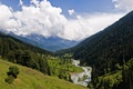 Picture India, mountains, valley, river, pahalgam valley, kashmir