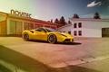 Picture car, Ferrari, Ferrari, yellow, tuning, Rosso, Novitec, 488 GTB, novitek