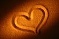 Picture heart, mood, heart, love, beach, sand