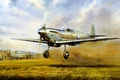 Picture aviation, ww2, painting, airplane, Supermarine Spitfire, war, art