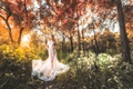 Picture Asian, dress, walk, forest, girl, style
