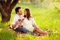 Picture nature, wine, stay, romance, pair, picnic, two