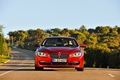 Picture Asphalt, Grille, BMW, Red, The front, Day, The hood, Road, 6 Series, BMW