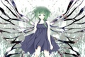 Picture girl, wings, anime, Vocaloid
