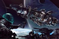 Picture space, planet, ship, stars, game wallpapers, Fractured Space