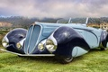 Picture the sky, retro, background, Convertible, the front, Cabriolet, beautiful car, 1937, by Figoni & Falaschi, ...