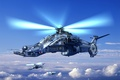 Picture helicopter, turntables, combat vehicle, sirin