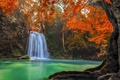 Picture forest, Thailand, landscape, jungle, Erawan Waterfall