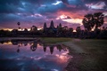 Picture sunrise, landscape, Cambodia, Angkor Wat