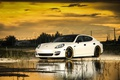 Picture Porshe, Panamera, S, White, Water
