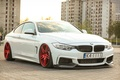 Picture bmw, turbo, red, white, tuning, power, germany, low