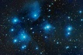 Picture stars, space, in the constellation of Taurus, M45, star cluster, The Pleiades