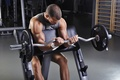 Picture fitness, pose, weight bar, workout, arms