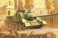 Picture installation, SU-100, tank fighter, self-propelled artillery
