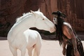 Picture bird, Johnny Depp, horse, actor, Johnny Depp, crow, Indian, The Lone Ranger, The lone Ranger, ...