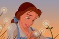 Picture flowers, cartoon, dandelions, disney, disney, beauty and the beast, Belle, beauty and the beast