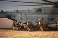 Picture helicopter, Sea Stallion, heavy, soldiers, CH-53, desert, Marines, military, Sikorsky, transport