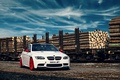 Picture white, bmw, BMW, logs, railroad, white, composition, e92