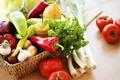 Picture basket, vegetables, Pepper, greens, tomatoes, pepper, Vegetables