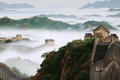 Picture mountains, fog, China, the great wall of China