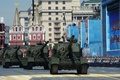 """Picture 2С35, victory day, howitzer, the city, red square, self-propelled artillery, """"Coalition-SV"""", Moscow"""