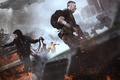 Picture weapons, home, panic, shooting, Deep Silver, machine, smoke, male, Creek, Homefront: The Revolution