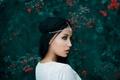 Picture berries, portrait, makeup, profile, decoration, Beautiful, bokeh